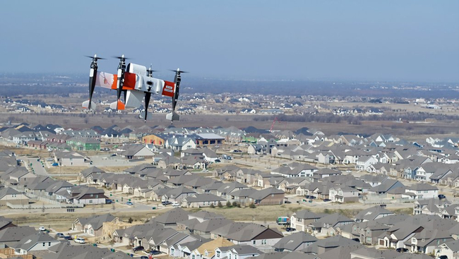 Getting parcels delivered by air rather than road. Image: Bell Textron Inc.