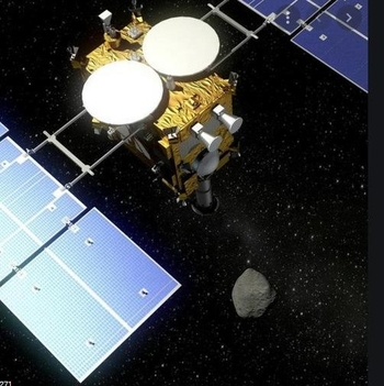 Japanese spacecraft Hayabusa 2 collected the samples from Asteroid Ryugu and brought them safely back to earth - courtesy JAXA