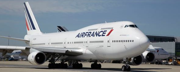 Boeing 747-400 of Air France at CDG  /  source: AF