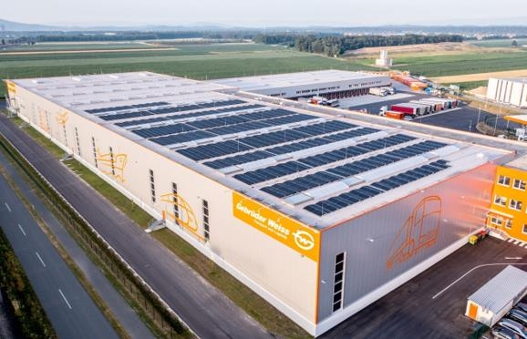 10% of GW's energy in DACH now comes from solar power. Image: Gebrüder Weiss