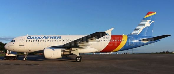 Former Alitalia operated A320 in its new Congo Airways' colors – pictures company courtesy