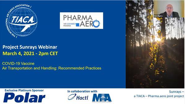 Slide from TIACA/Pharma.Aero webinar