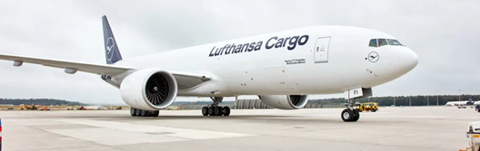 When blue and white offer green. Image: Lufthansa Cargo
