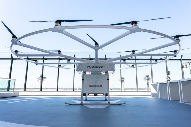 VoloDrone presented by DB Schenker and producer Volocopter last week in Berlin to politicians and industry representatives -  courtesy: DB Schenker