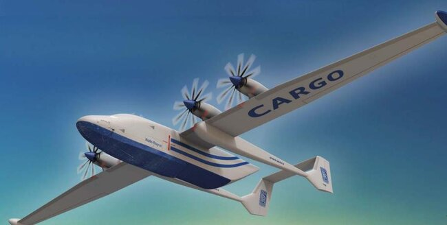 Concept study APUS i-5 Cargo: Operating hydrogen or electrically powered freighters such as the APUS i-5 stands high on BBAA's agenda – courtesy APUS