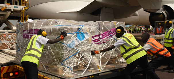Essential medical equipment delivered perfectly on time, but still at a price. Image: © UNICEF/Maria Nabatanzi