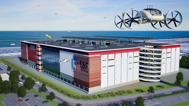 World's first Drone Logistics Facility due 2023. Image: ECR