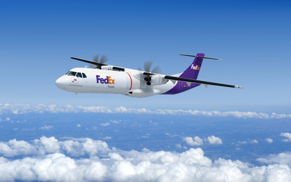 Artist's impression of new ATR72-600 freighter