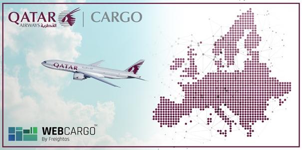 Qatar spreads its online web to Europe. Image: Qatar Airways Cargo/WebCargo