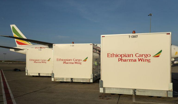 Ethiopian Airlines plays a large role in African vaccine transports. Image: REUTERS/Tiksa Negeri