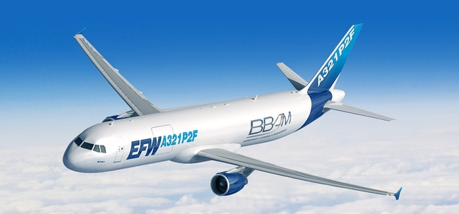 BBAM has ordered up to 20 new A321P2F freighter conversions from EFW