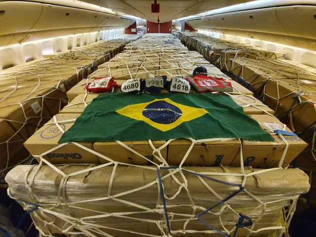 5 Olympic swimming pools' worth of covid relief cargo in 3 months. Image: LATAM