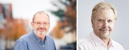 Thomas Fuchs, deugro (left), Richard White Wisetech. Image: deugro/Wisetech