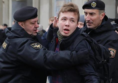 Blogger Roman Protasevich was detained right after Ryanair's forced landing in Minsk -  courtesy: dpa