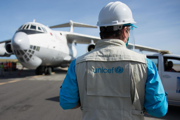 UNICEF has the backing of the world's leading cargo airlines. Image: UNICEF