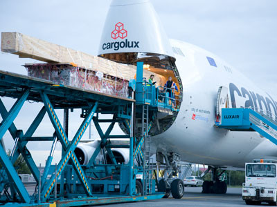 Cargolux is constantly carrying drilling equipment and other oversized items around the world  /  courtesy CV