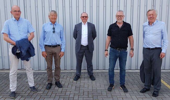 Aviation needs transformation urge (from l to r): Torsten Jueling, Cargo Chief Berlin Airports / Hugo Duchemin, MD Comworxx / Patrick Muller, SVP Ops BER / Klaus-Jürgen Schwahn, Chief Schoenhagen Airpt. / Andreas Timmermann, Head of BBAA – photo: hs/CFG