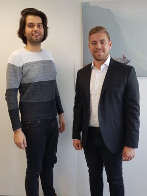 """""""Constant communication with customers, in addition to excellent performance, is indispensable for successful business relationships,"""" emphasize managers Florian Goetz (left) and Timo Schamber"""