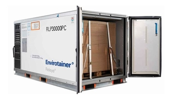 United Cargo is the first North American carrier to utilize Envirotainer's new Releye® RLP container – photo: Envirotainer