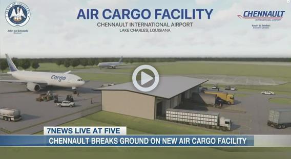 The birth of a cargo facility in Louisiana. Image: 7NEWS