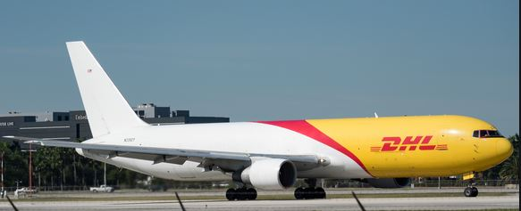 ABX Air operates the CGN flights on behalf of DHL Express  -  company courtesy
