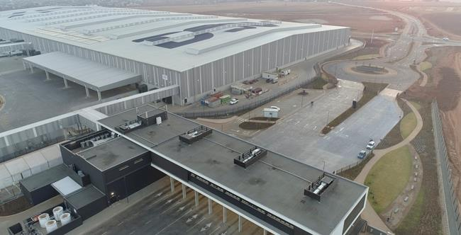 The largest integrated logistics center in the whole of Africa. Image: DSV