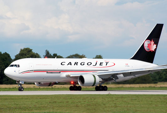 Cargojet operates twelve B767-300Fs  -  company courtesy