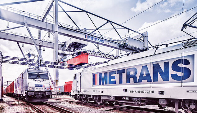 Between 60 and 80 cargo trains operated by Metrans run between Europe and important economic centers in China each month – credit: HHLA