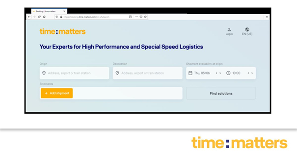 Sleek booking platform because time also matters when placing your request. Image: time:matters