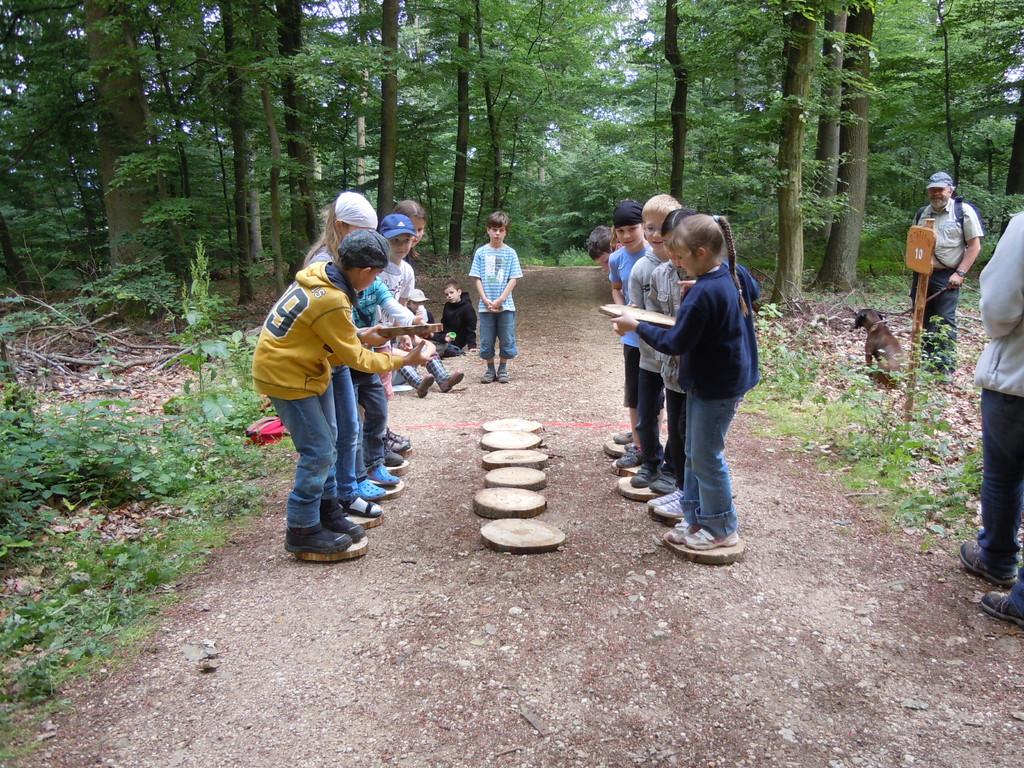 Die Kinder wurden in 2 Mannschaften aufgeteilt.