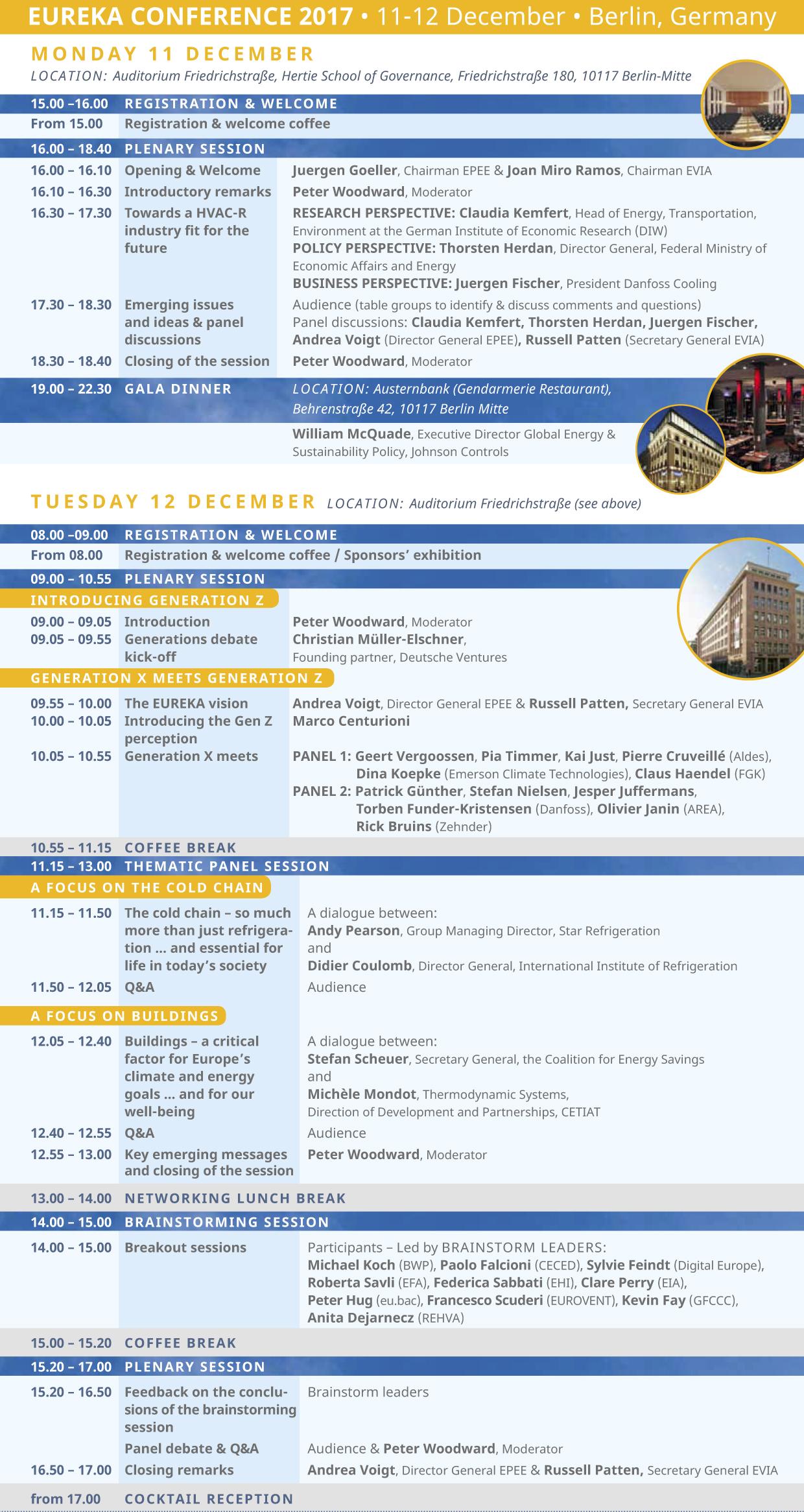 Programme - Conference EUREKA 2019