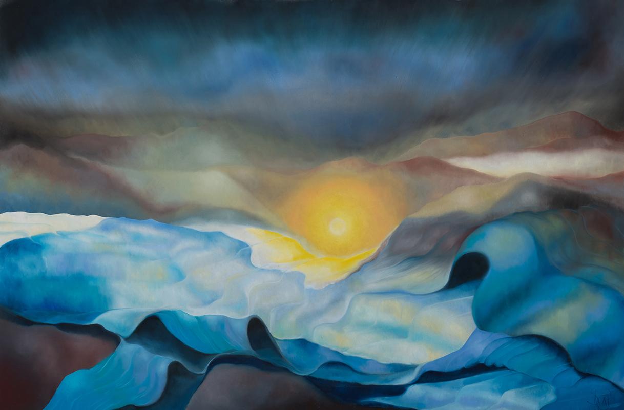 Mee/hr Gefühl 1, 80 x 120 cm, Öl auf Leinwand, Serie Mee/hr Gefühle, 2017
