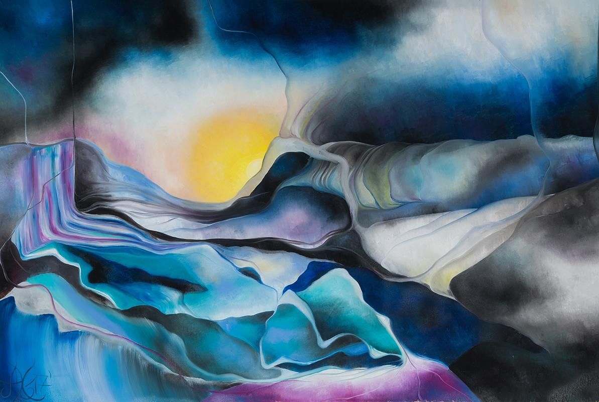 Mee/hr Gefühl 5, Öl auf Leinwand, 80 x 120 cm, Serie Mee/hr Gefühle, 2017