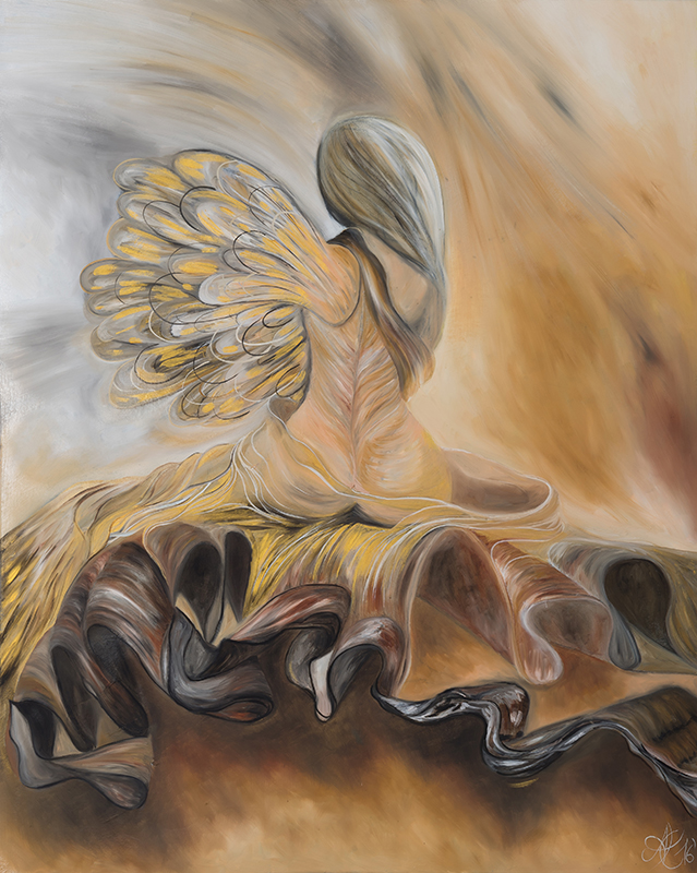 Verengelung, Öl auf Leinwand, 80 x 100 cm, 2016