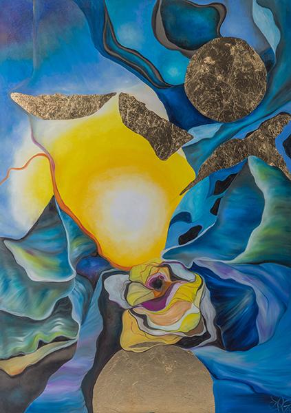 Mee/hr Gefühl 7, 100 x 140 cm, Öl auf Leinwand, Serie Mee/hr Gefühle, 2017