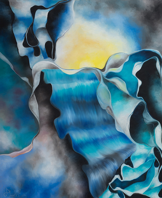 Mee/hr Gefühl 6, 100 x 120 cm, Öl auf Leinwand, Serie Mee/hr Gefühle, 2017