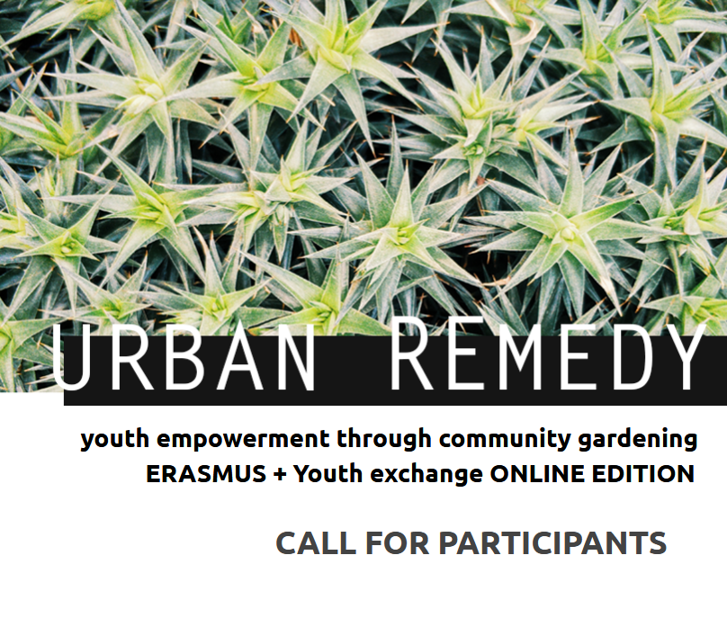 CALL FOR PARTICIPANTS international online youth exchange on urban gardening