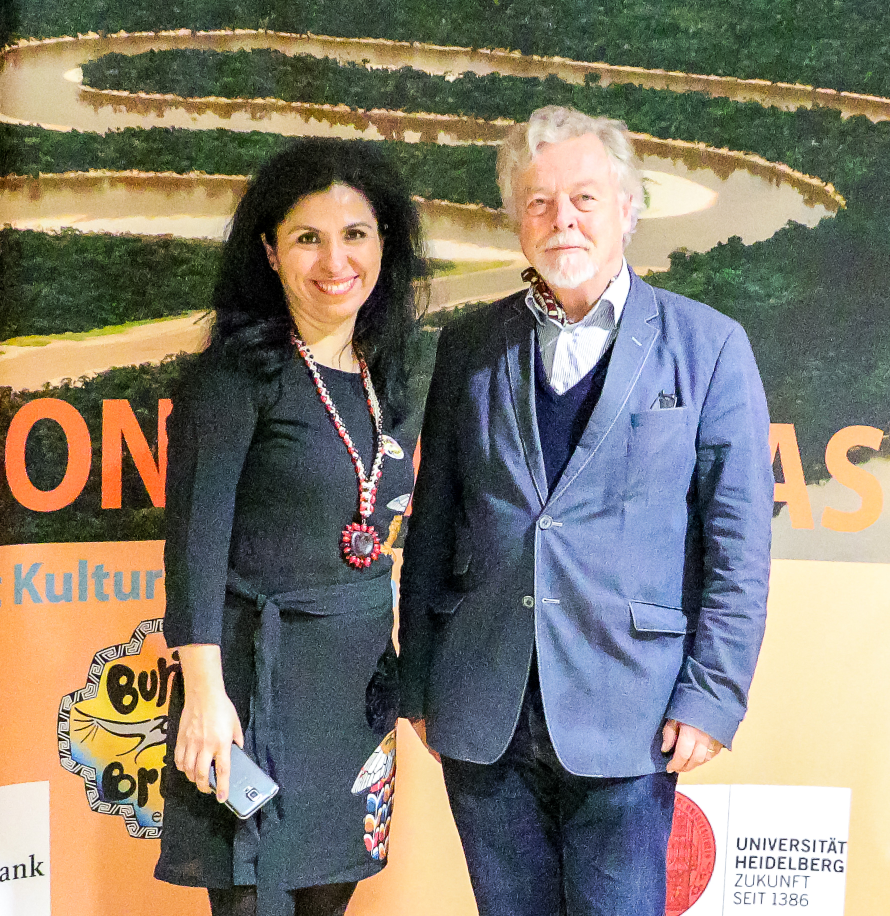 Elena Breitkopf und Prof. Dr. Michael Wink, projekt Biologie trifft Kultur und Nachhaltigkeit