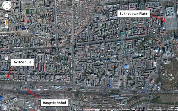 Schule bei Google-Earth