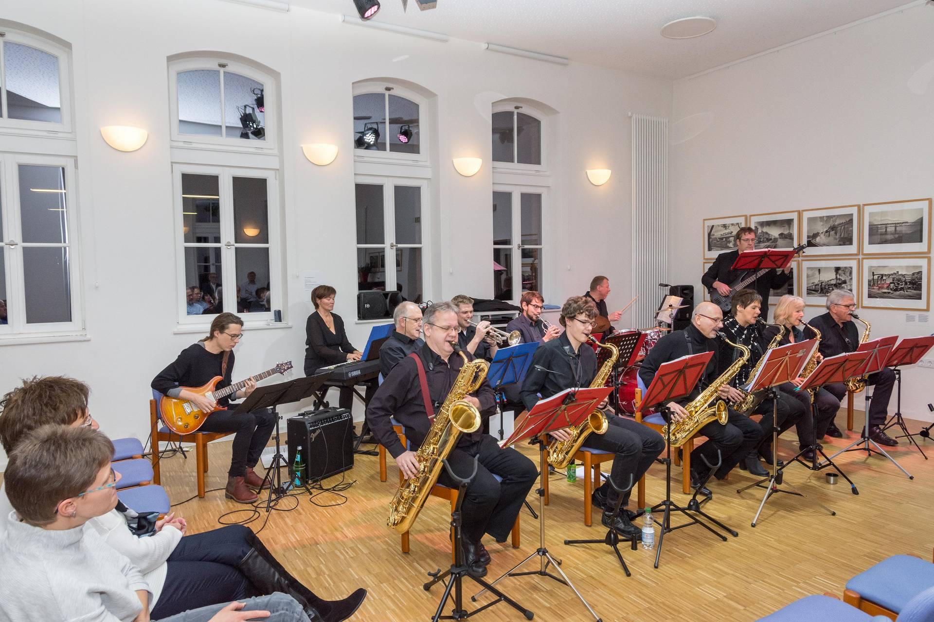 Die Jazz-Combo während des Auftritts.