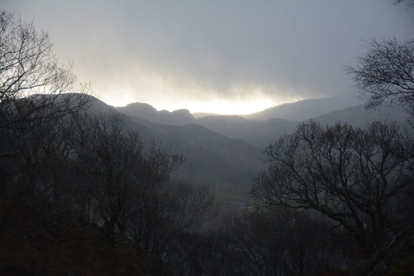 Violent winter squall, Ardheslaig on the Applecross Peninsula, Scotland, 14/12/14.