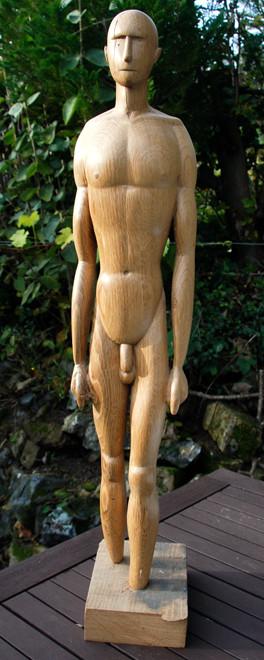 Standing Man  2010 (Oak) (64x13x9)