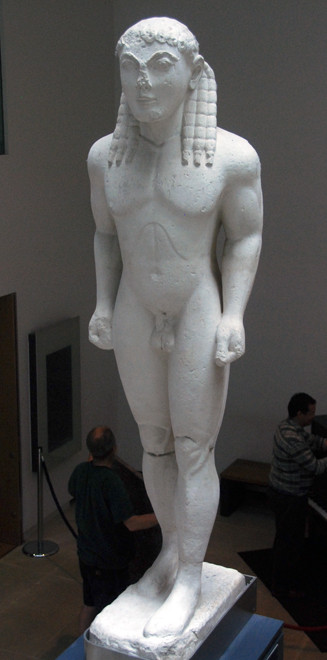Kouros from the Sanctuary of Apollo at Delphi, BC 570 (Plaster cast) Ashmolean Museum, Oxford