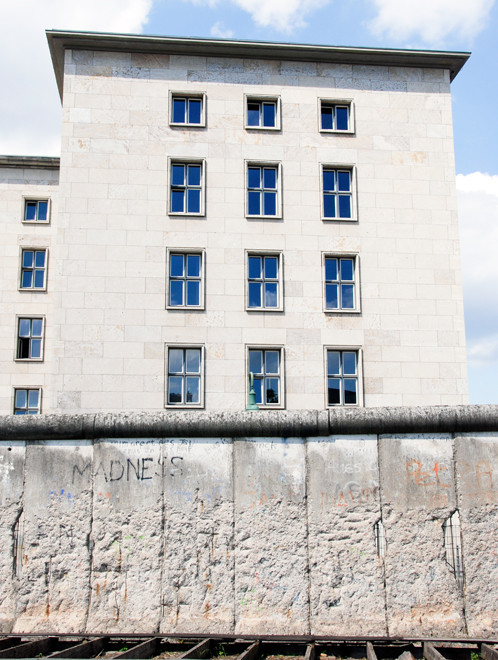 The bulding that was Hitler's Air Ministry and Wall, Berlin 2008