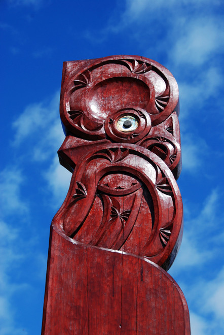 Carving at the Te Waikoropupu Springs