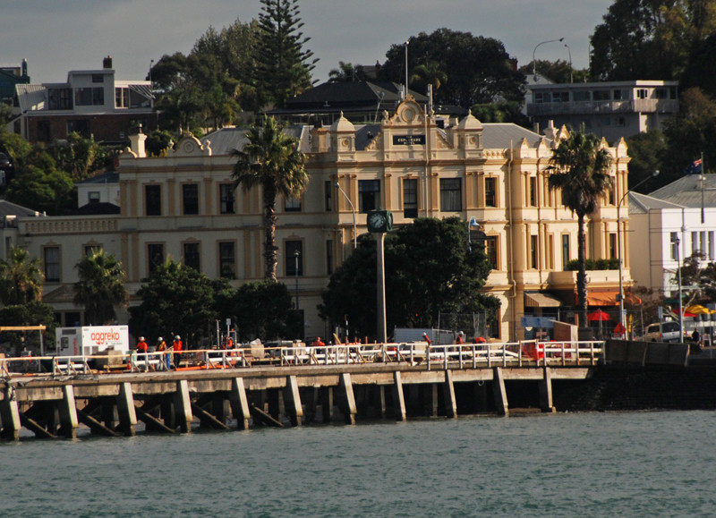 The Esplanade Hotel in Devonport, opposite the Auckland CBD.