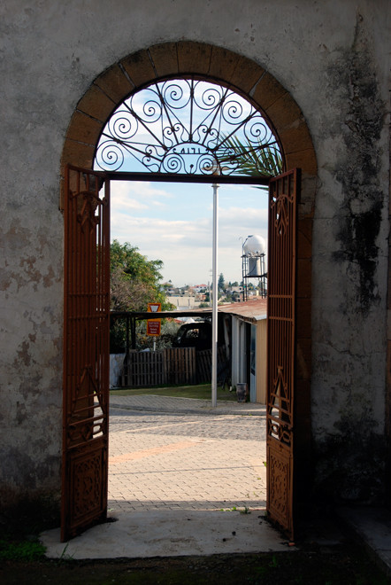 The gate into the Mosque grounds in Peristerona