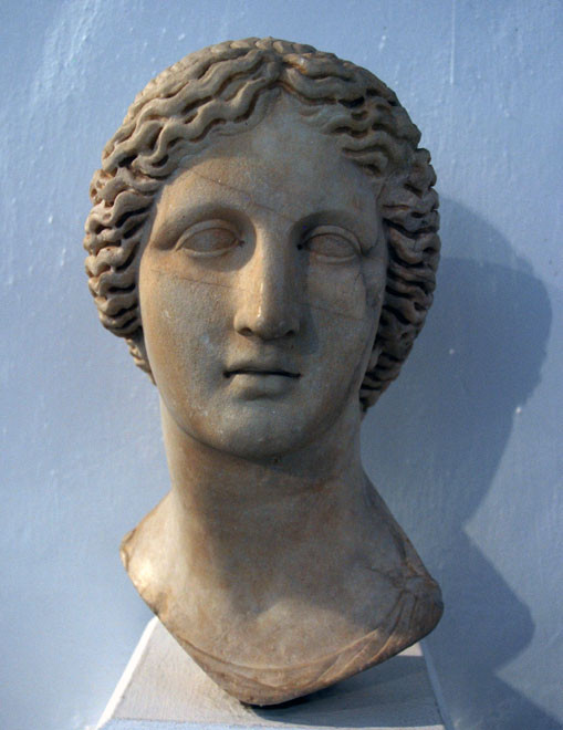 Head of a statue of Artemis, Neo Paphos Roman Period: Cyprus Museum