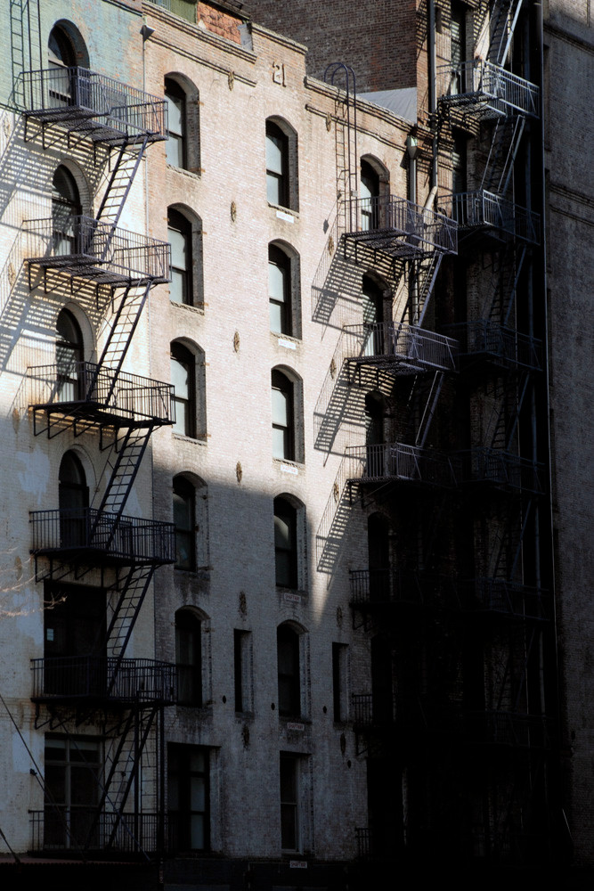 Windows and stairs, Meatpacking District