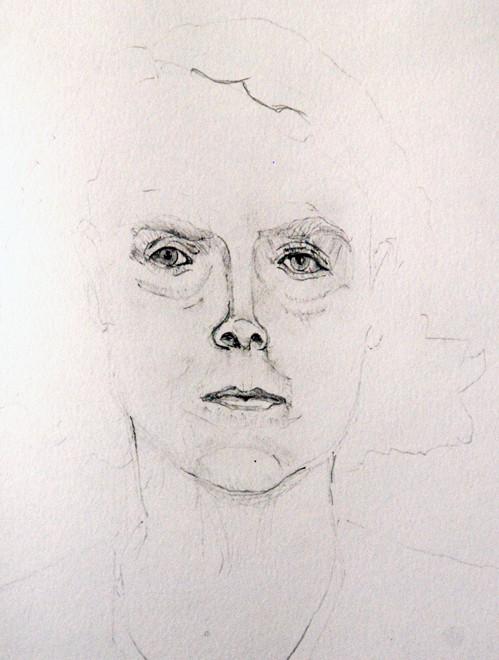 Marta Husemann, 23 September 1942 Gestapo Zentrale, Berlin I (2008) (Pencil) (30x20) Fergus Murray